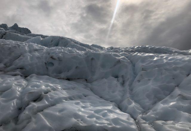 Icefall at the Falljökull glacier in Skaftafell, Iceland